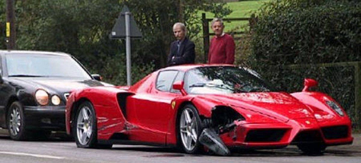 ¡Qué hiciste querido! Video: se compró la última Ferrari y la chocó en 24 horas.