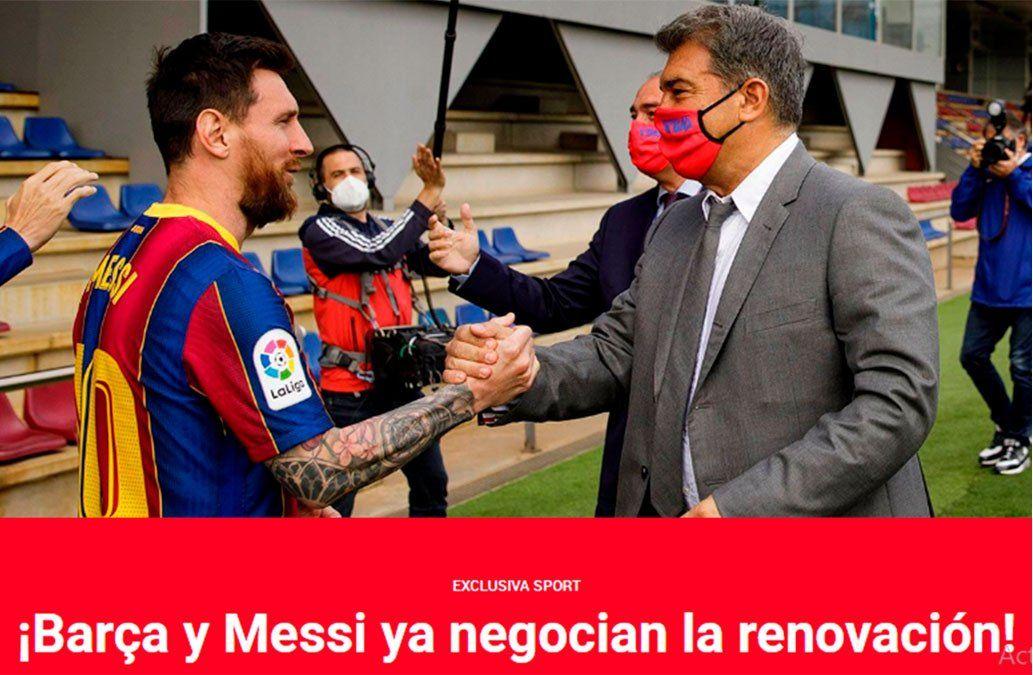 Lionel Messi y Barcelona iniciaron la renovación