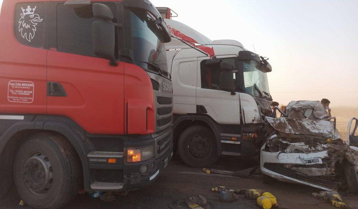 Así quedaron los vehículos del accidente en Ruta 19, Córdoba