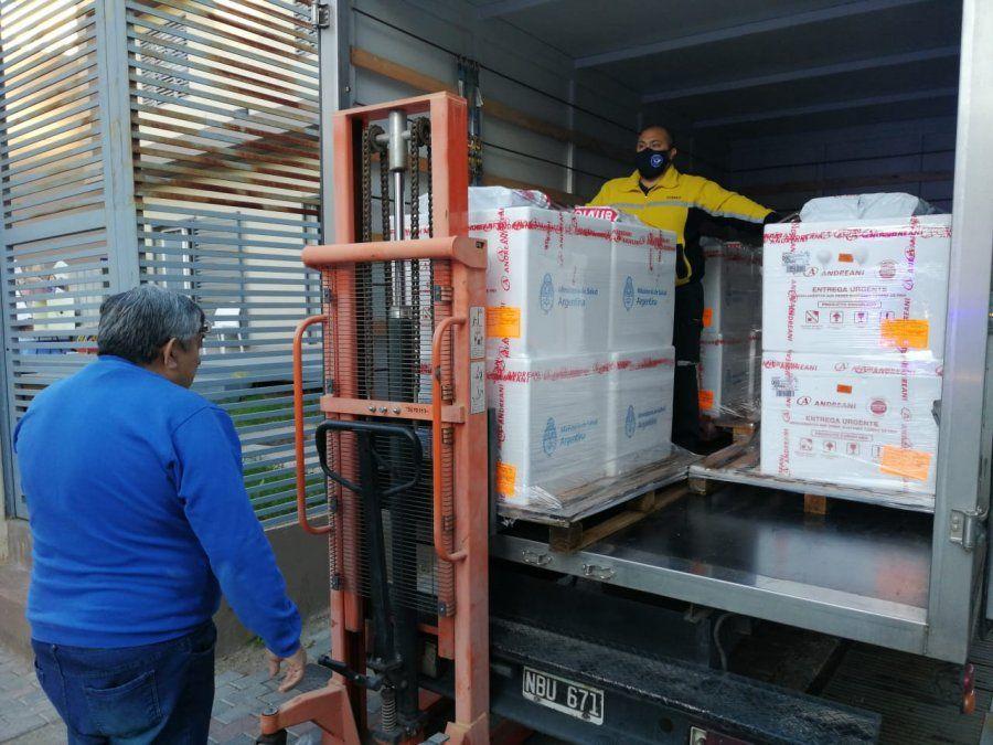 Este lunes llegó a Mendoza un nuevo cargamento de la vacuna Sputnik