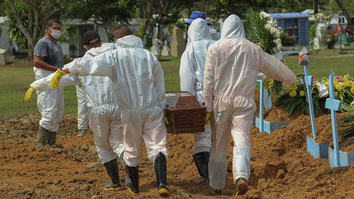 Brasil suma 12.404.414 pacientes infectados y 307.112 fallecidos en total por coronavirus.