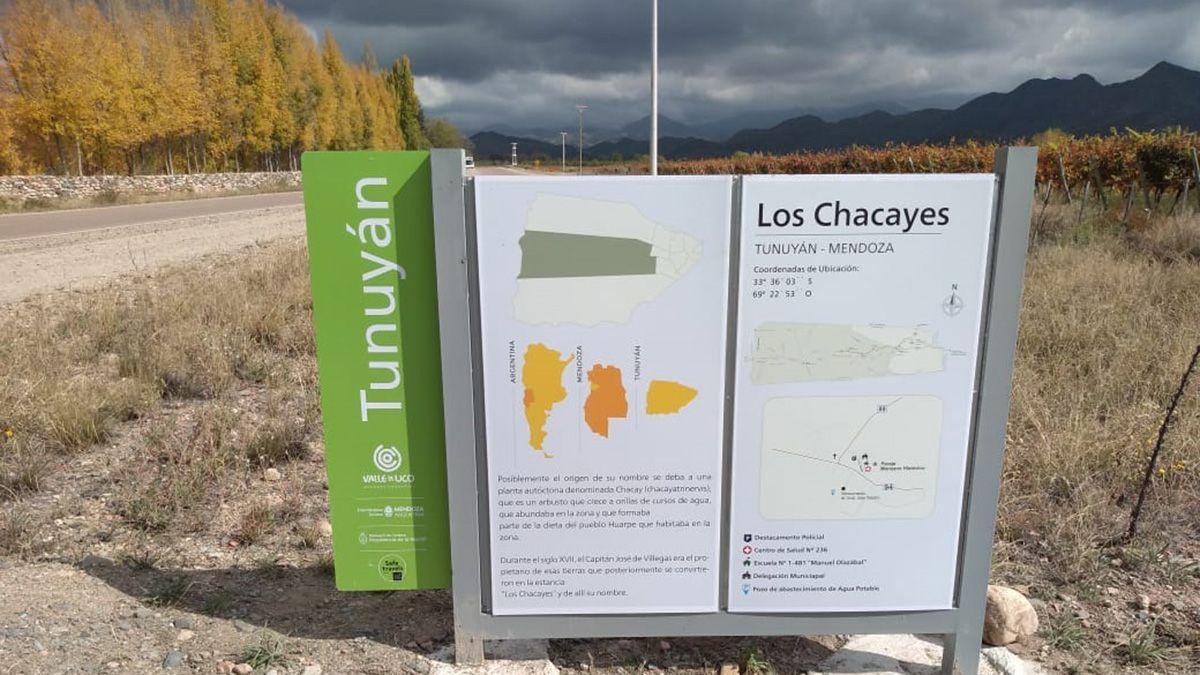 Turismo en Mendoza: los nuevos carteles ofrecen información clara y de interés para mendocinos y turistas.