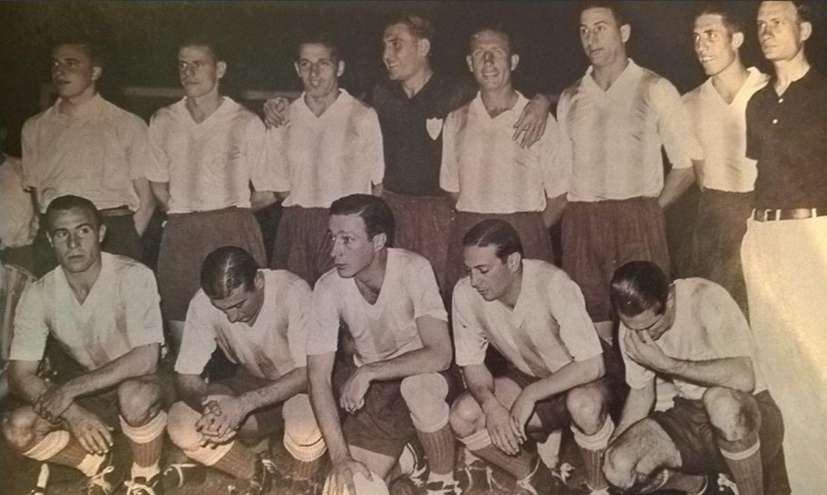 La Selección Argentina que venció a Brasil en la final de 1937.