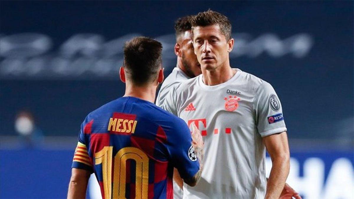 Lewandowski quiere jugar con Messi en el Barcelona