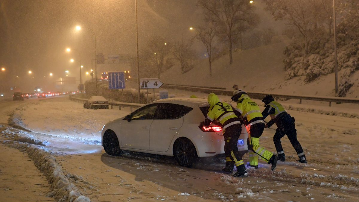 Nevadas en Madrid.