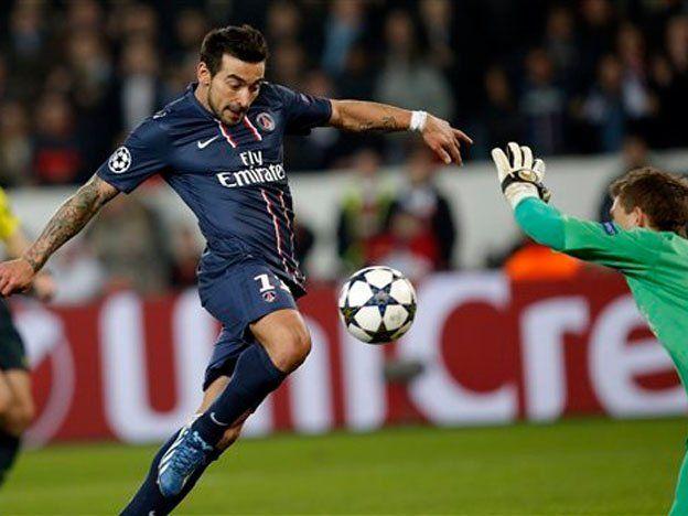 El París Saint Germain avanzó a cuartos gracias al gol de Lavezzi