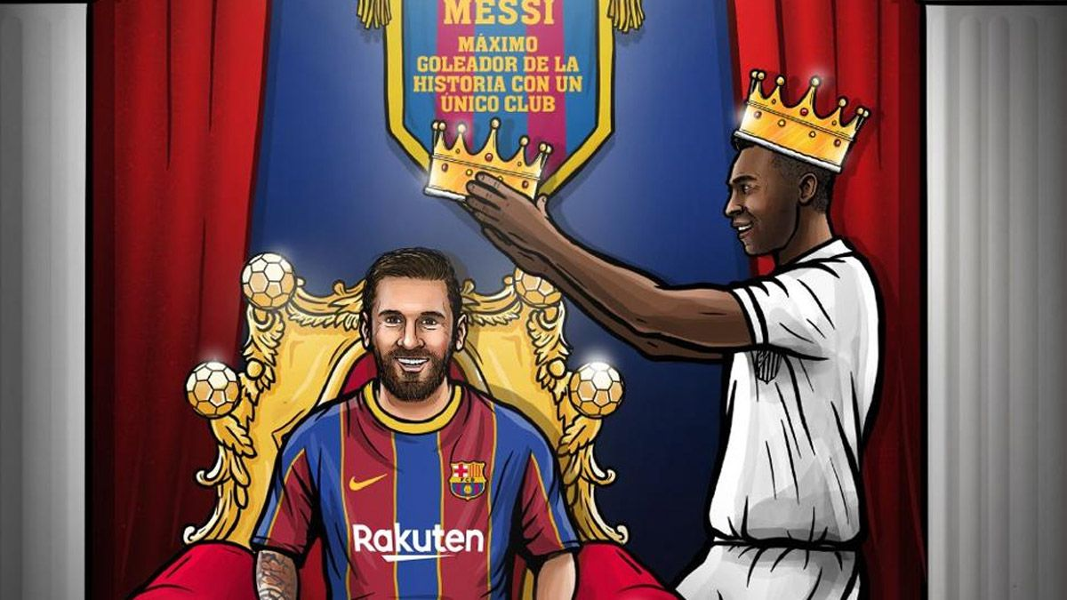 El Santos ninguneó el récord que Messi le arrebató a Pelé