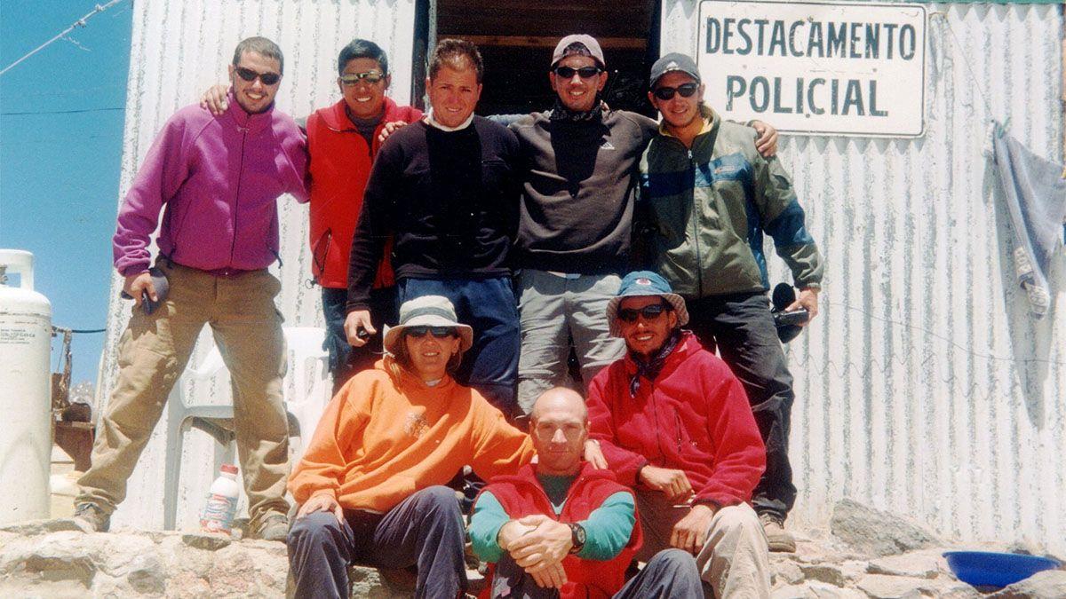 Camilo Uvilla en el destacamento de la Patrulla de Rescate en Plaza de Mulas
