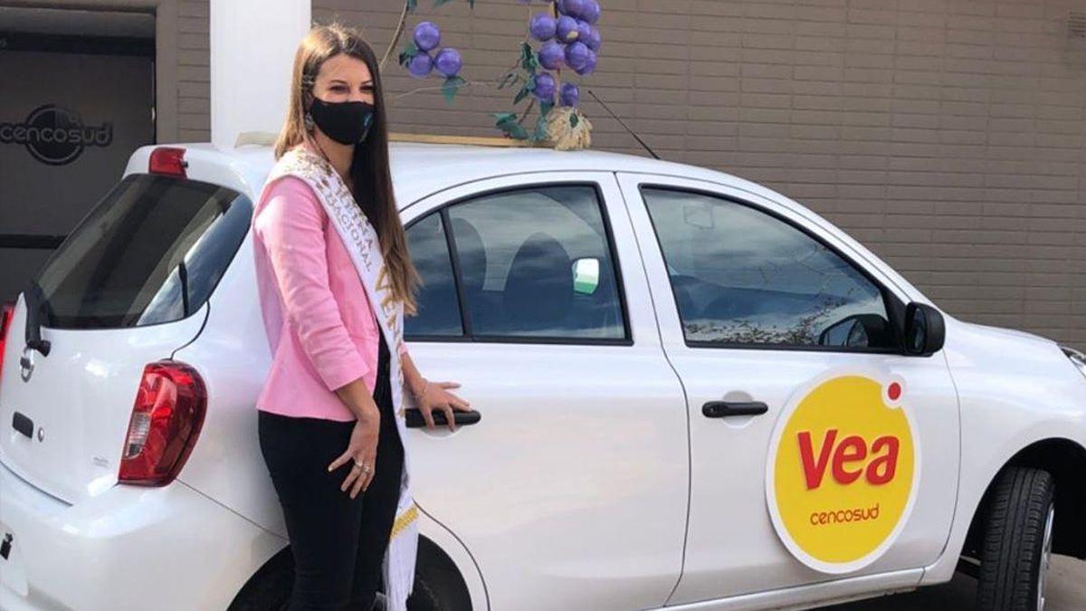 La Reina Nacional de la Vendimia recibió su auto