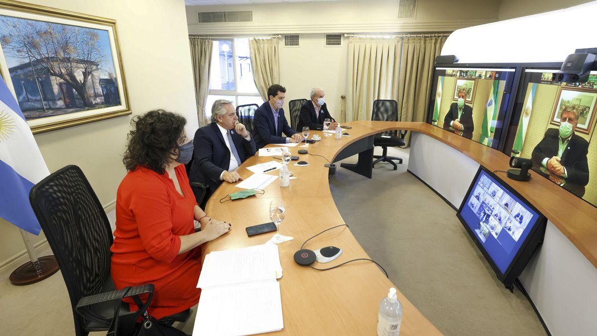 El presidente Alberto Fernández se reunió por videoconferencia con 11 gobernadores