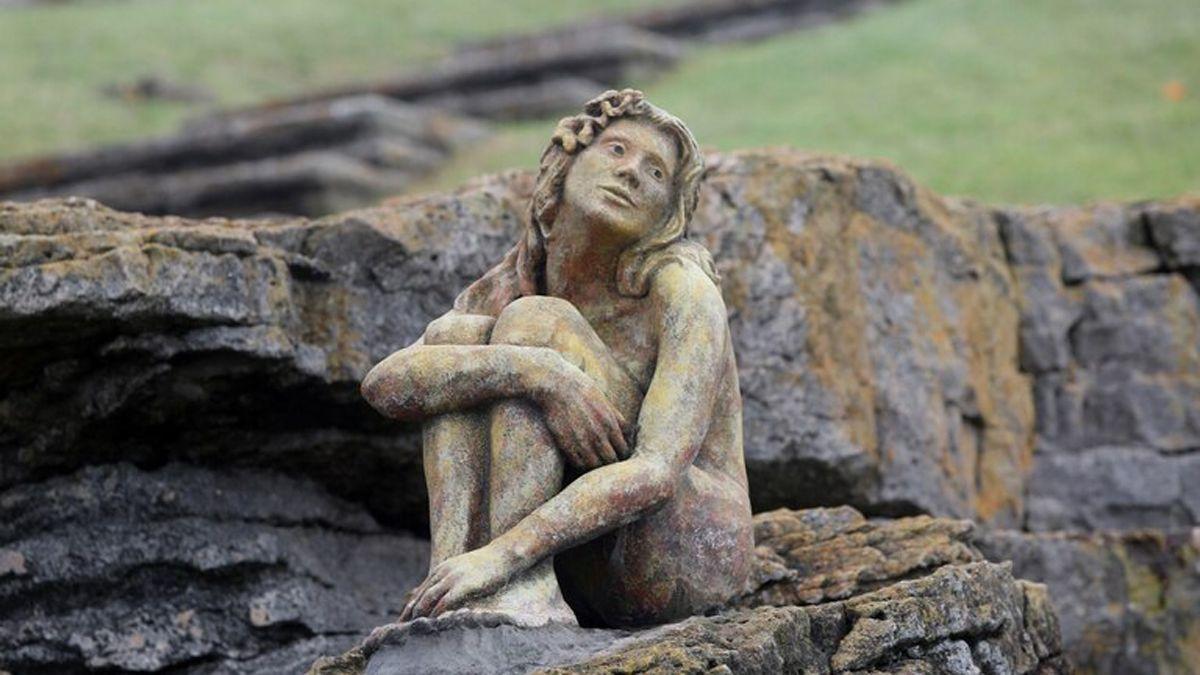 La escultura que fue encontrada en Mar del Plata.