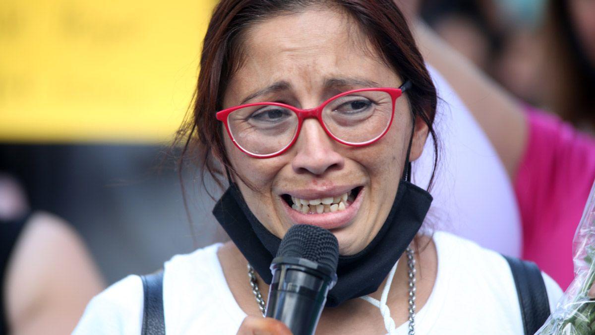Lorena Alfaro, mamá de la infortunada Evangelina Quiroga, realizó varias marchas tras el hecho.