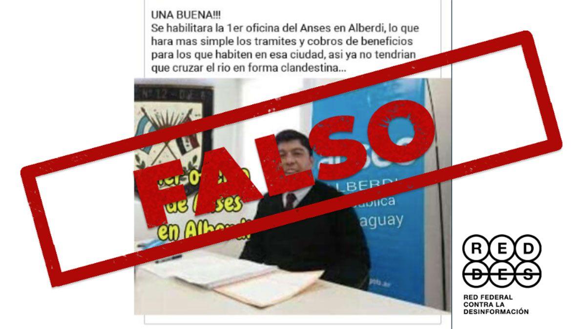 Es falso que la ANSES abrió una oficina en Paraguay