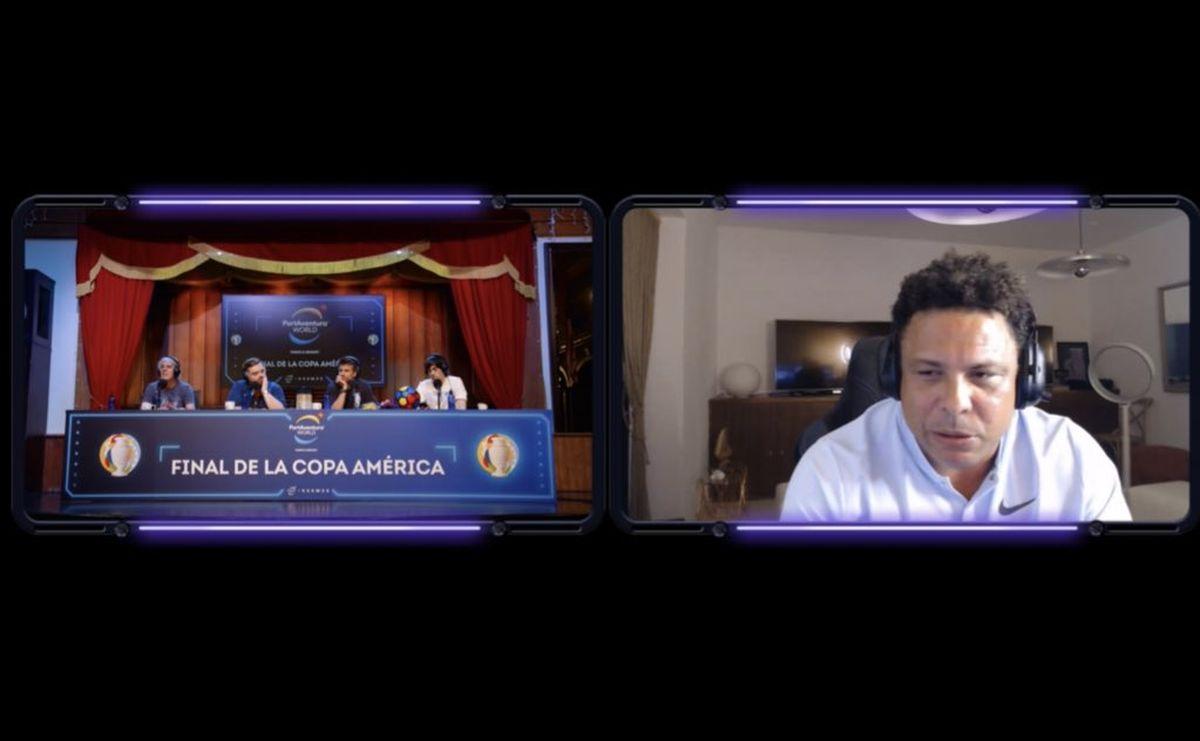 Ronaldo fue irónico sobre el Dibu Martínez antes de la final de la Copa América.