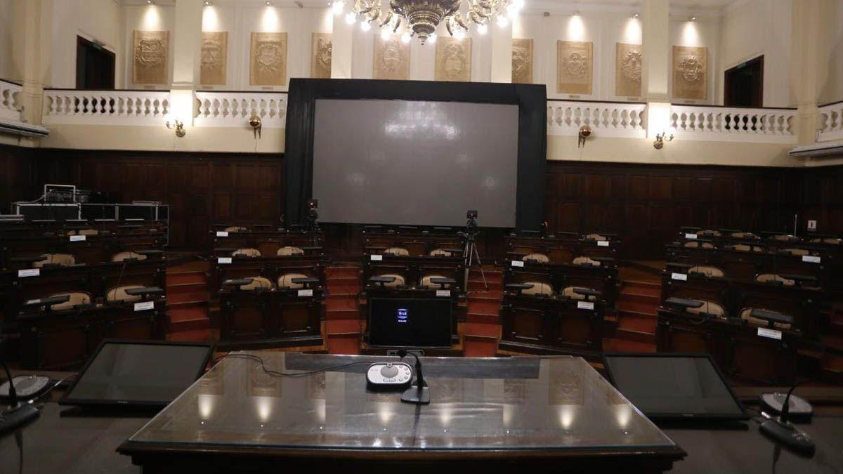 Así luce el recinto antes del comienzo de la Asamblea Legislativa.
