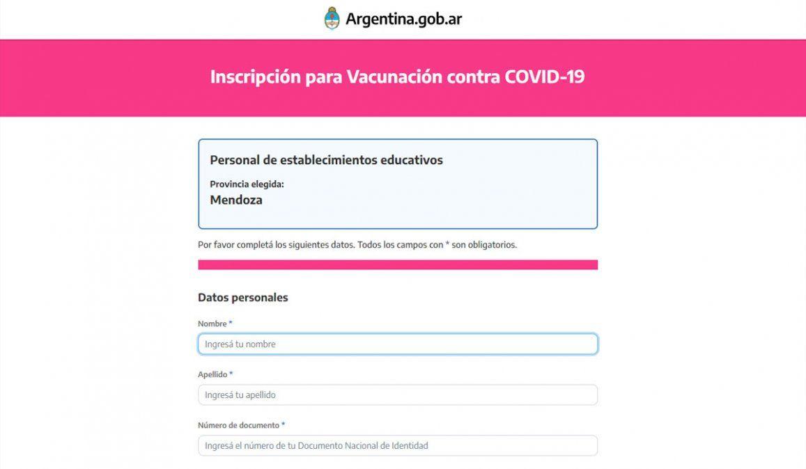 Docentes: cómo inscribirse para la vacuna contra el Covid 19