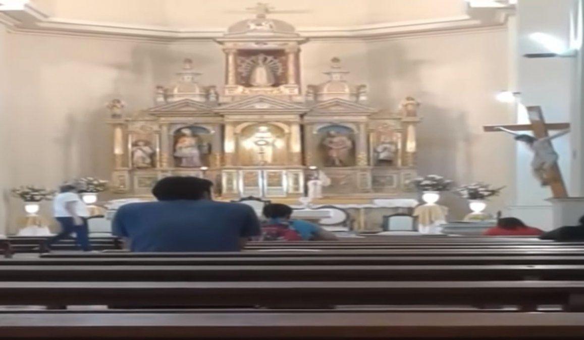 La imagen compartida de la presunta aparición de Jesús en la Basílica Nuestra Señora de Luján de Cuyo