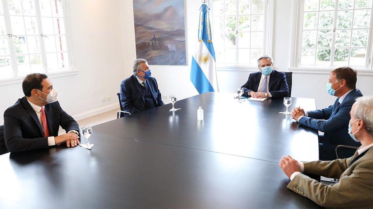 En la reunión que mantuvo con el presidente