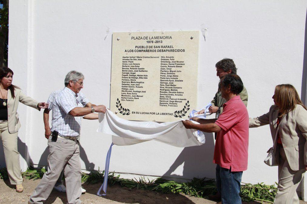 Homenajearon a los desaparecidos de San Rafael