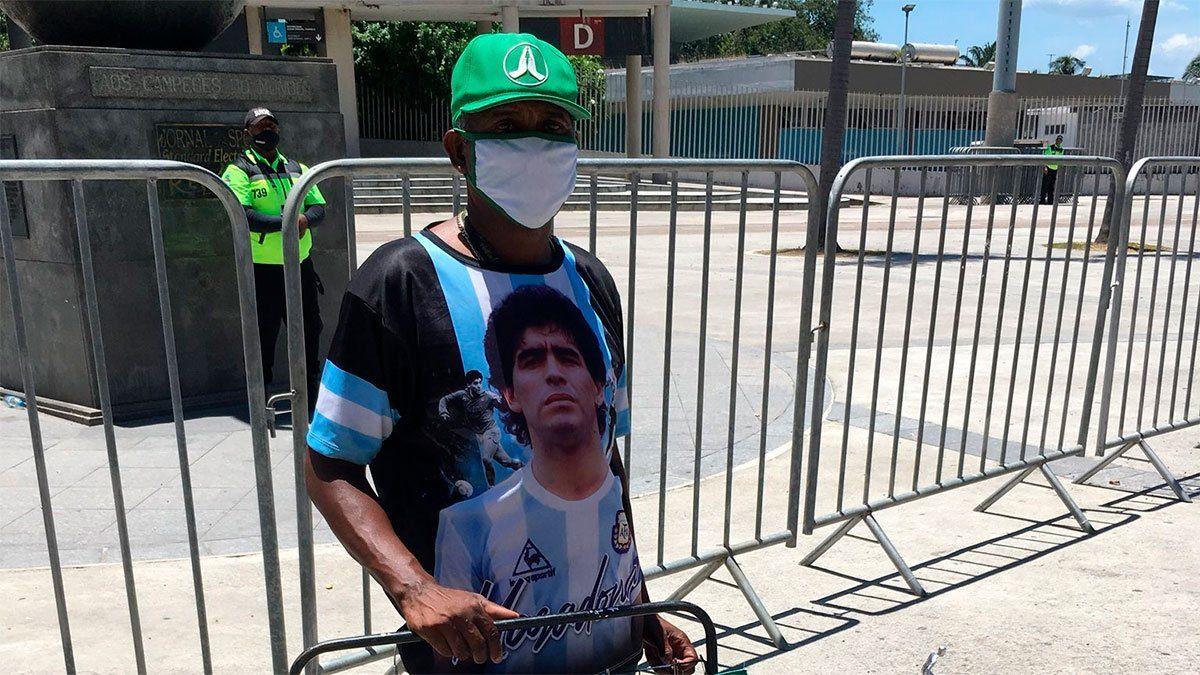 Diego Maradona, presente en el Maracaná