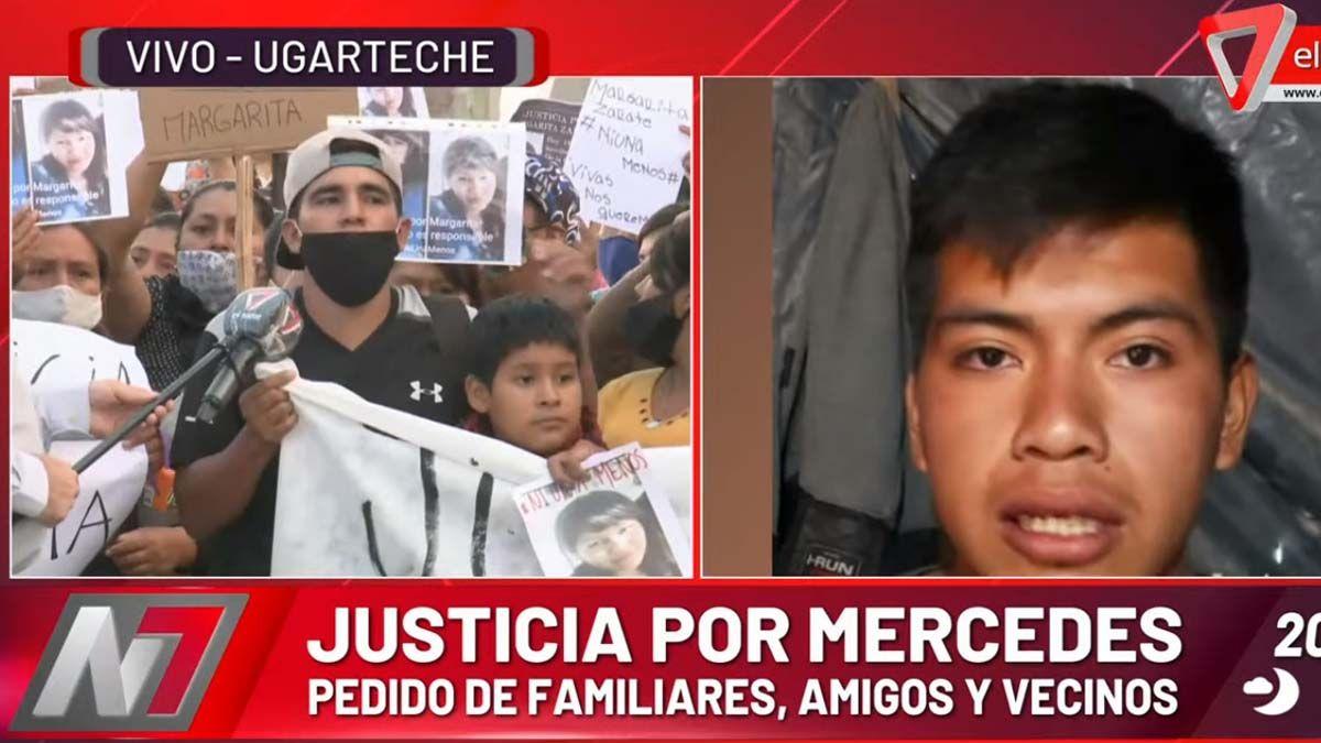El detenido por el femicidio de Mercedes fue imputado y arriesga perpetua