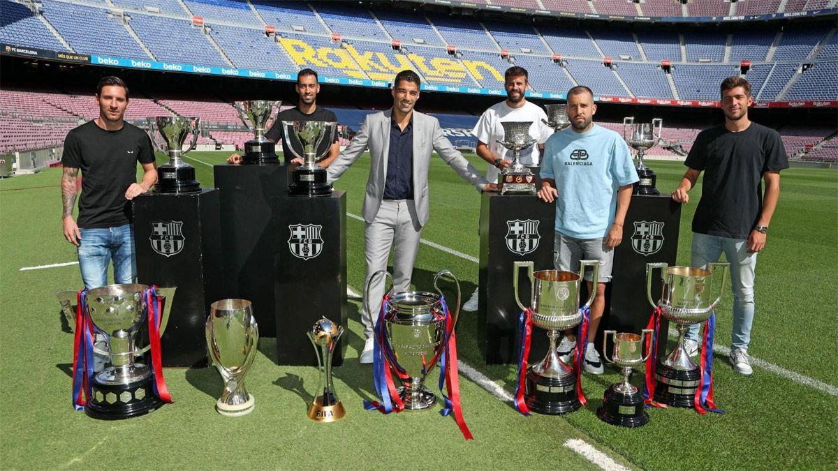 Luis Suárez se despidió del Barcelona entre lágrimas