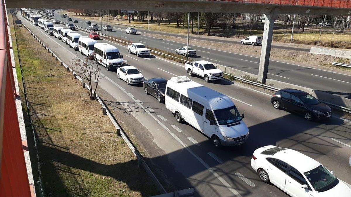 Los transportistas reclamaron por la crisis del sector por el coronavirus en Mendoza