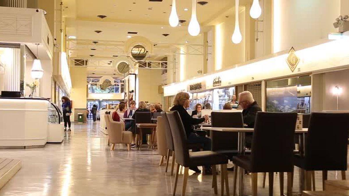 El sector de la Galería Piazza que albergaba a la confitería