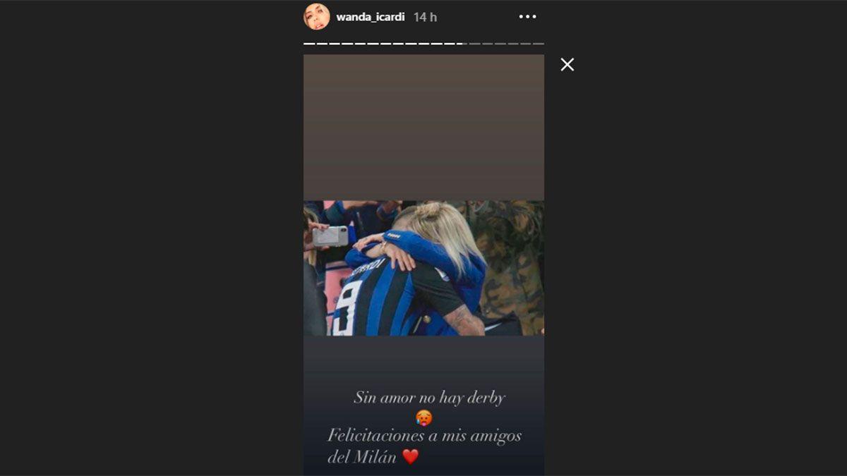 Wanda Nara y un polémico posteo tras la derrota del Inter