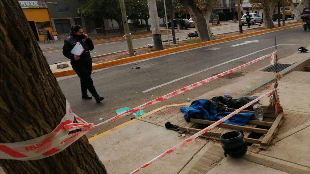 El motociclista fue trasladado al Hospital Central con una herida en su pierna
