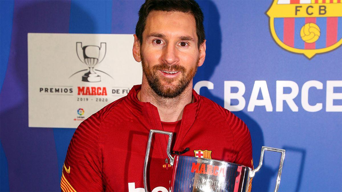 Messi recibió su séptimo premio Pichichi