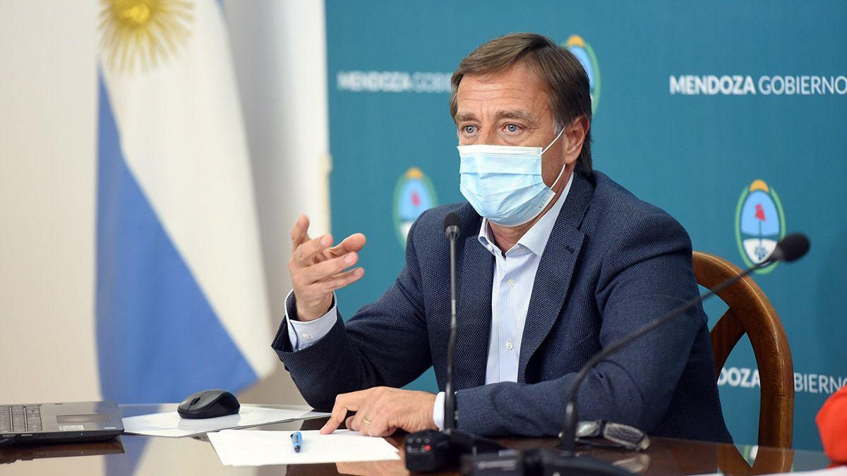 El gobernador Rodolfo Suarez se encuentra aislado por el coronavirus