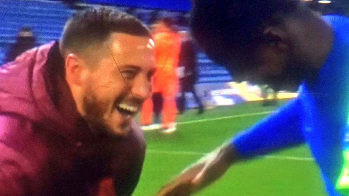 Hazard y las risas tras la eliminación del Real Madrid