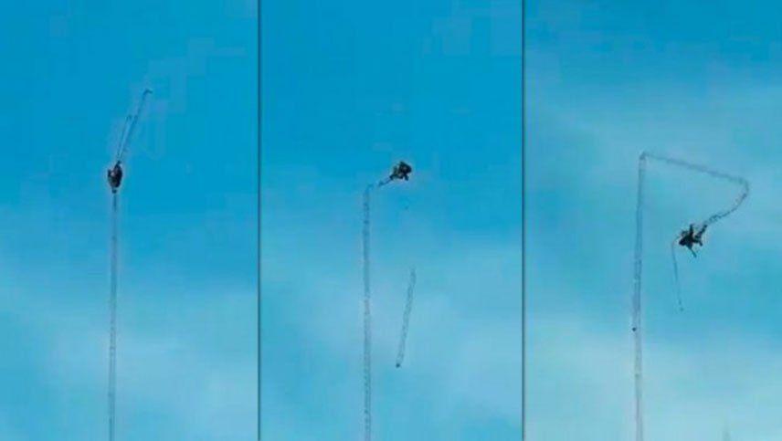 Video: un hombre murió cuando intentaba desmontar una antena