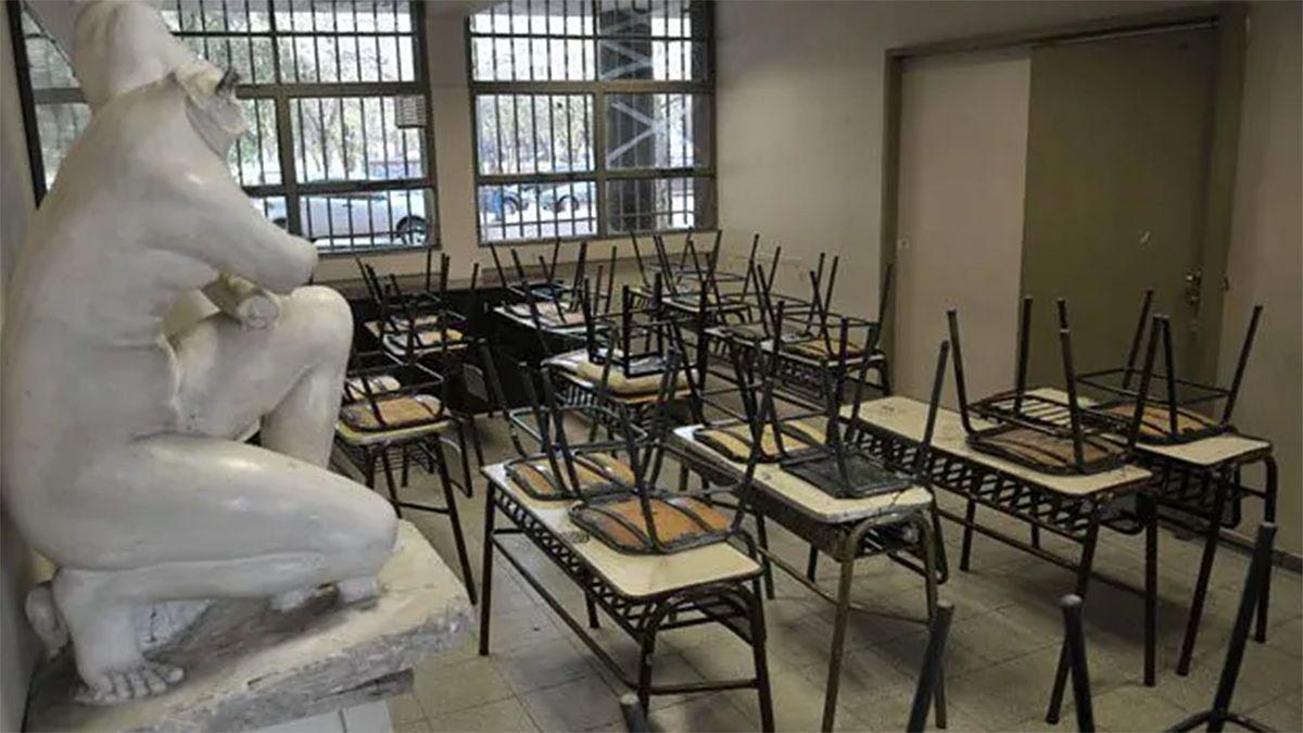 La directora de Bellas Artes denunció que en su escuela el 14% del personal está contagiado o con riesgo de padecer coronavirus.