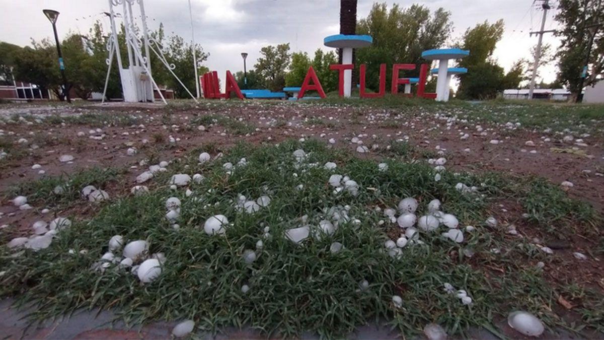Una tormenta granicera afectó varios distritos de San Rafael