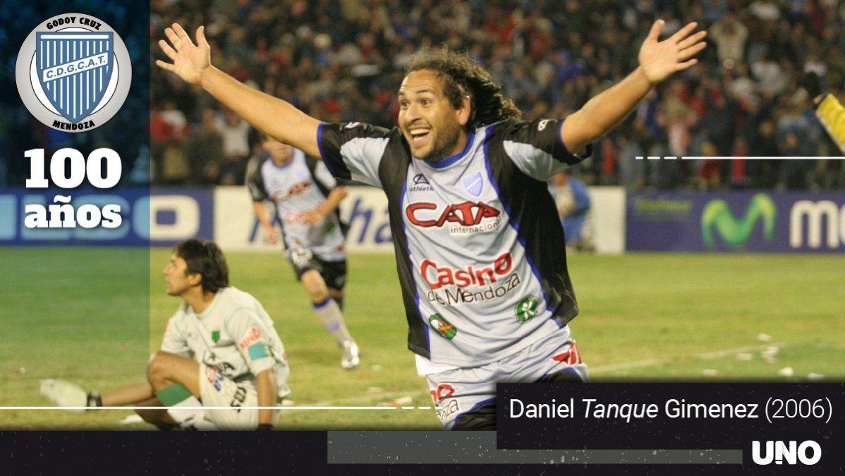 El Tanque Daniel Giménez quedó en la historia del Tomba.