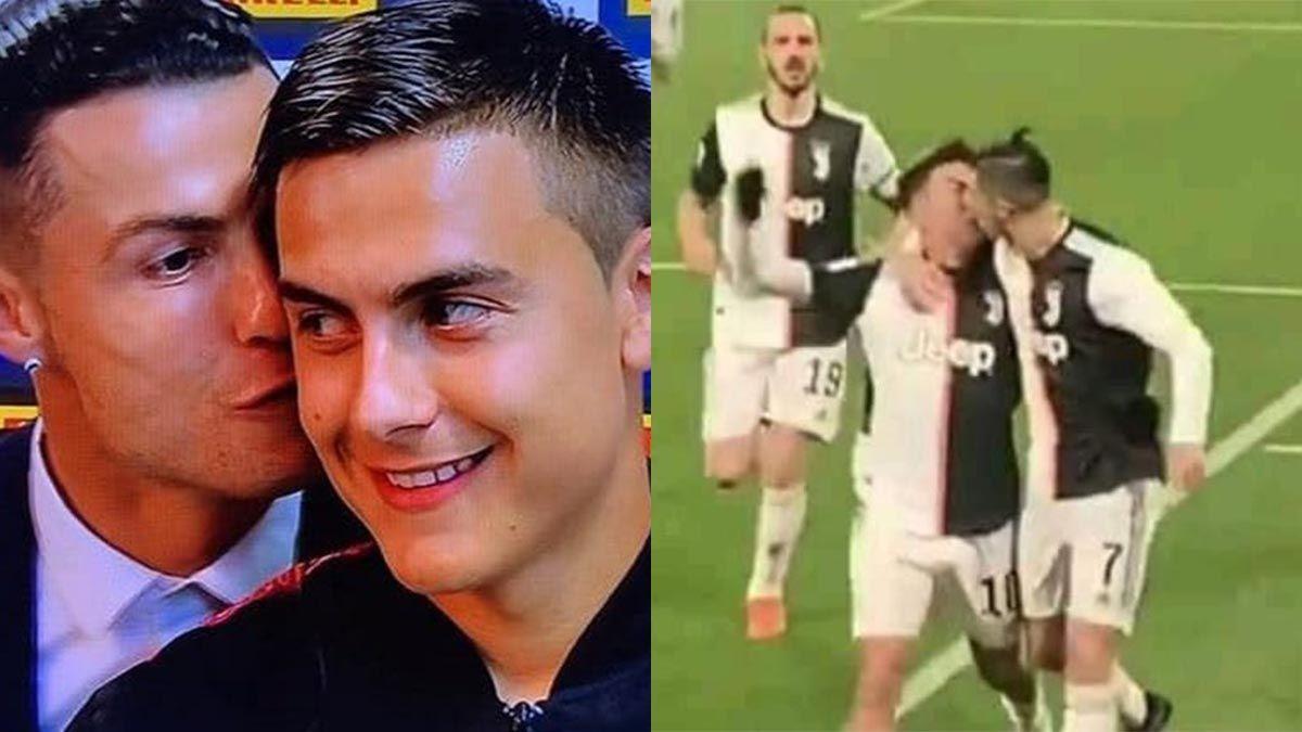 Dybala habló del beso en el festejo con Cristiano Ronaldo