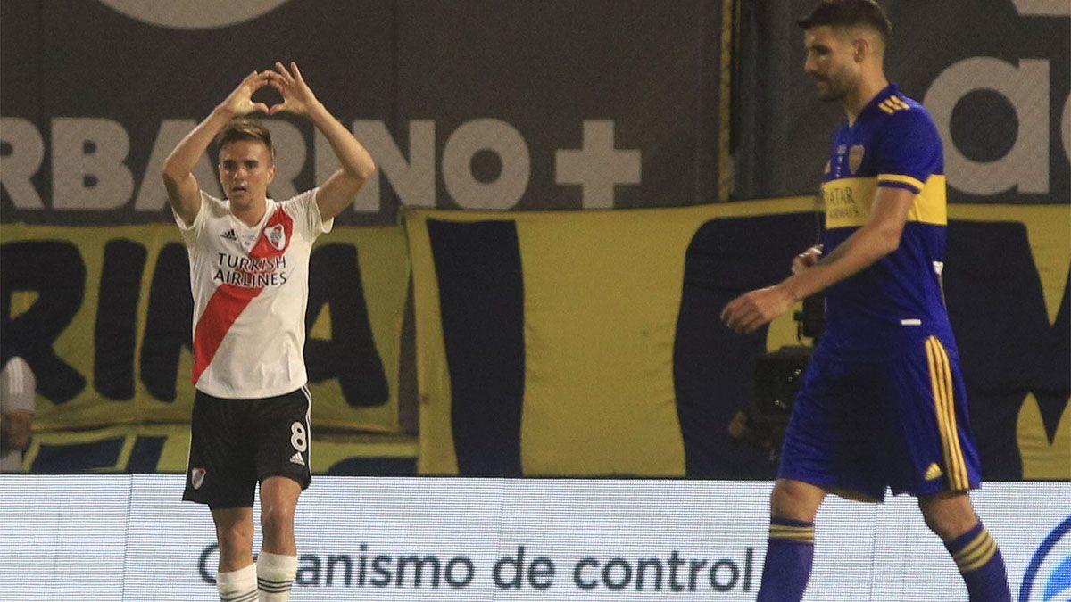 Palavecino, feliz por marcar su primer gol en River