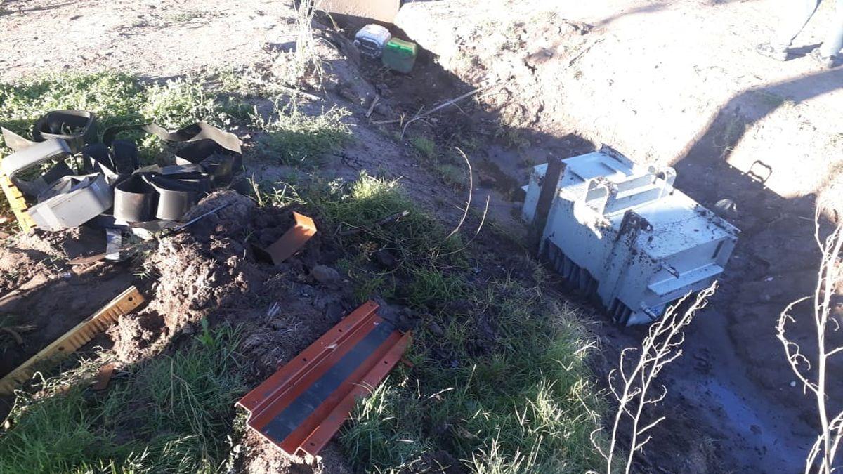 Intentaron robar un transformador de Edemsa en el Sur
