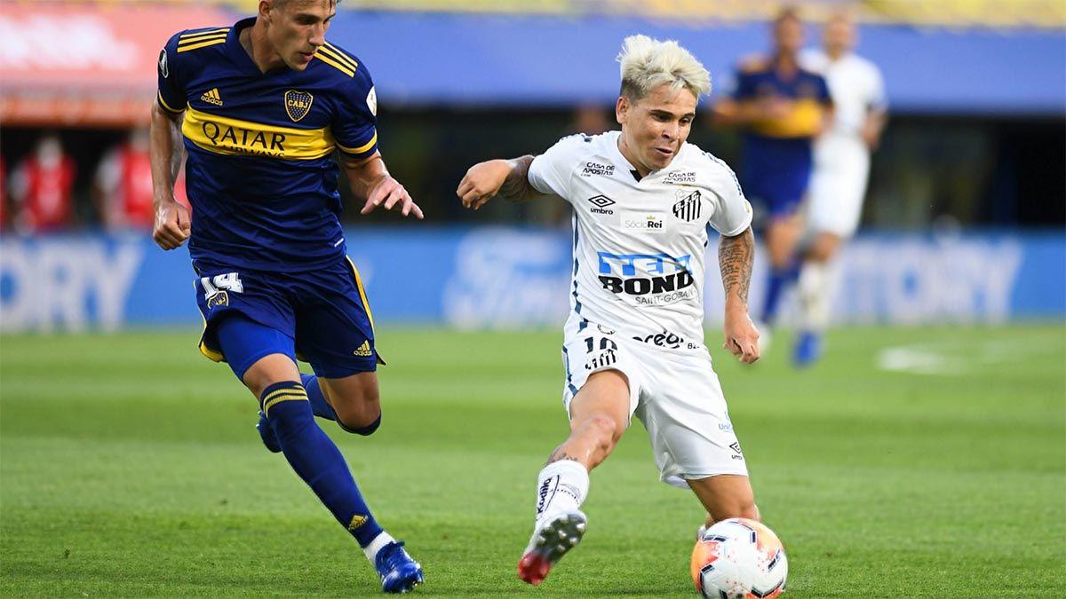 Soteldo abandonó el Santos y no jugará ante Boca