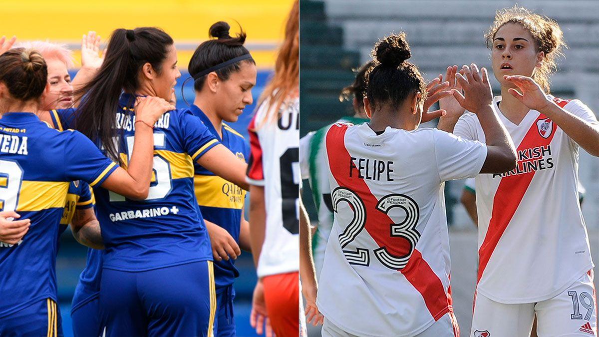 Boca y River arrancaron el torneo femenino goleando