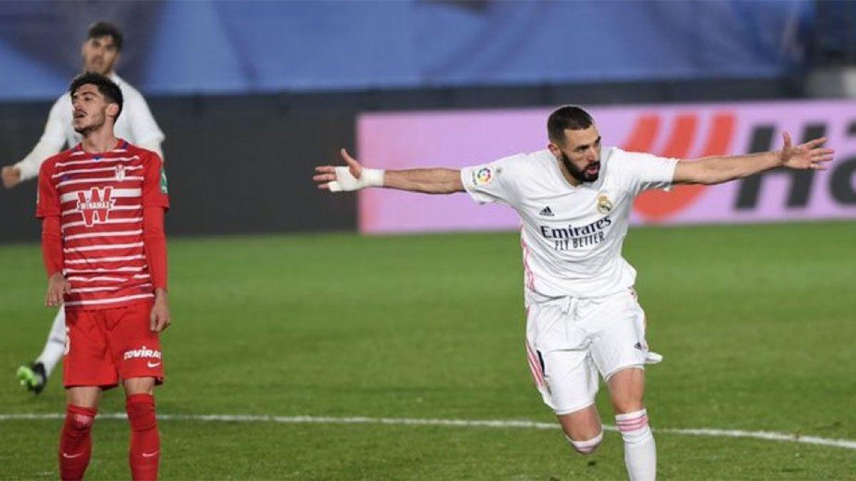 Real Madrid se sacó de encima a Granada y alcanzó en la punta a Atlético
