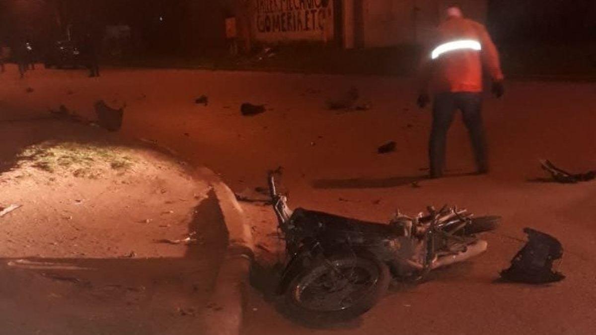 Un motociclista de 64 años murió al ser chocado de frente por el conductor de una camioneta que se cruzó de carril en la ruta provincial 41 y Galigniana