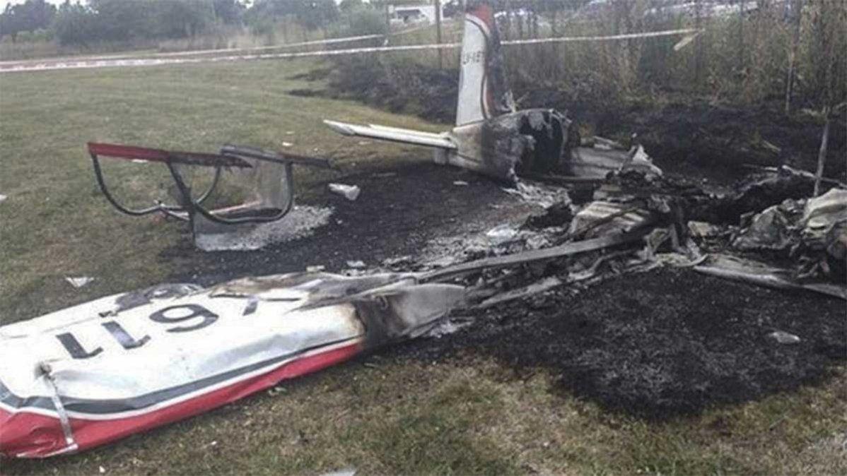 La avioneta cayó cerca del aeródromo de General Rodríguez. Murieron sus dos ocupantes
