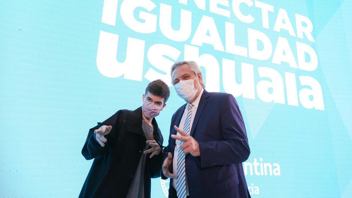 Alberto Fernández anunció la reactivación del plan Conectar Igualdad.