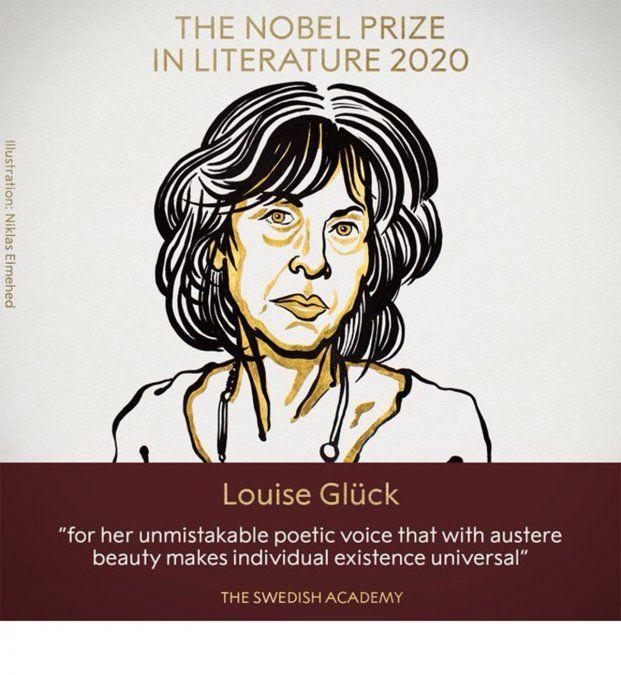 la estadounidense Louise Glück se quedó con el Premio Nobel de Literatura 2020.