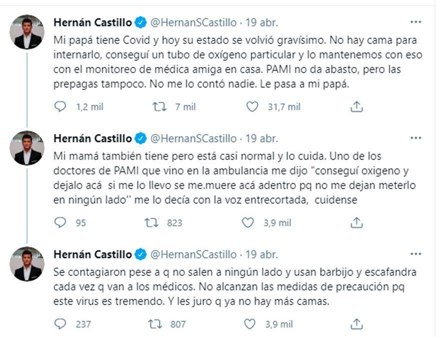 El duro momento de Hernán Castillo: Falleció mi papá