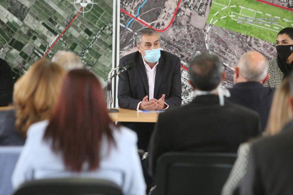Enrique Vaquié en el encuentro con intendentes del Este y Lavalle por Mendoza Activa