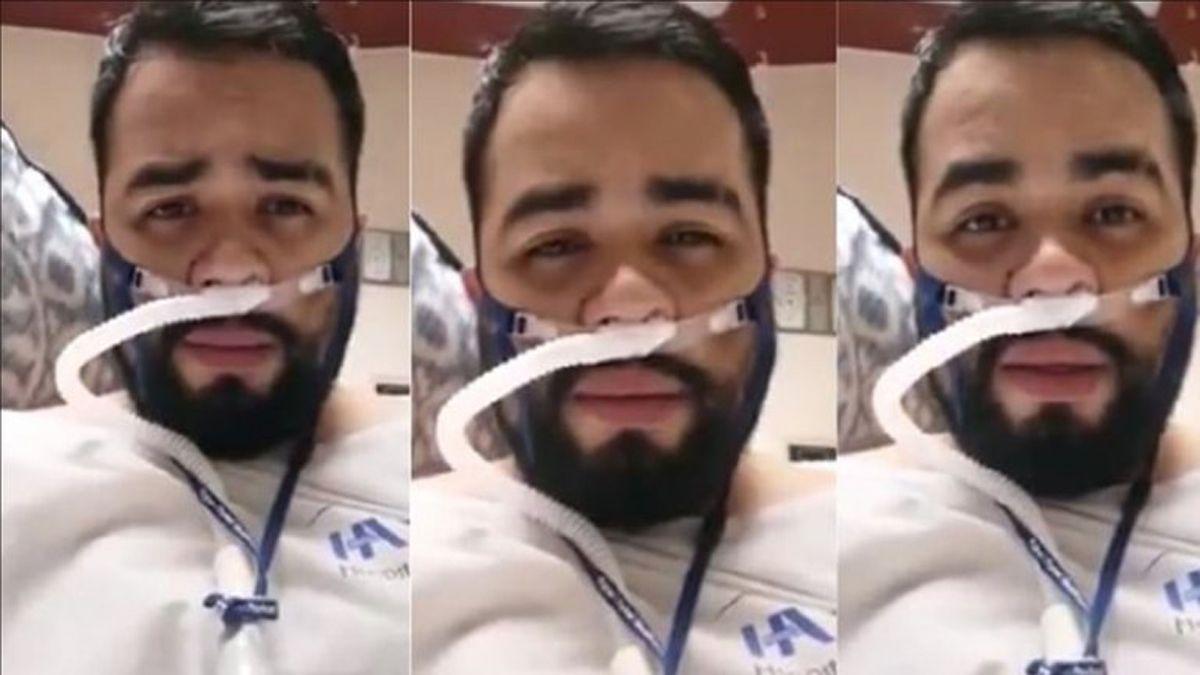 Un enfermero grabó un video despidiéndose de sus familiares y luego murió de coronavirus.
